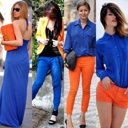Amei esta combinação com o laranja. Luxo!